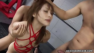 BDSM annihilation with three mild that she loves