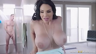 [Brazzers] - Two Milfs Struggle Over A Fat Hard-on