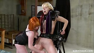 Lezzie babe enjoys BDSM, spanking and ache from mistress