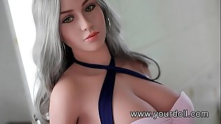 White big breasted dame doll full of allurement