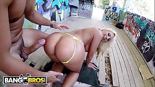 BANGBROS - Tummy Fesser Gets Her Glorious Big Ass Fucked In Public By Nick Moreno!