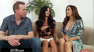 Gorgeous French Student Pounded By Pervy Landlord Couple - Anissa Kate, Francesca Le