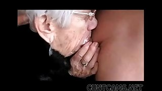 Granny Sucks Gawp Cock for Her Bday - More at cuntcams.net